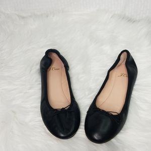 Ladies J. Crew sz 7 Kiki black ballet flat